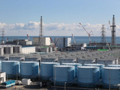 OKUMA, JAPAN - FEBRUARY 25: A general view of radiation contaminated water tanks and the damaged reactors at Fukushima Daiichi nuclear power plant. Five years on, the decontamination and decommissioning process at the Tokyo Electric Power Co.'s embattled Fukushima Daiichi nuclear power plant continues on February 25, 2016 in Okuma, …