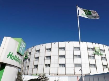 The Holiday Inn hotel, close to Heathrow Airport, west of London is pictured on March 1, 2020. - Britain's Department of Health has block-booked a hotel close to London Heathrow Airport, to use as a quarantine zone for any people entering the country who may have been exposed to the …