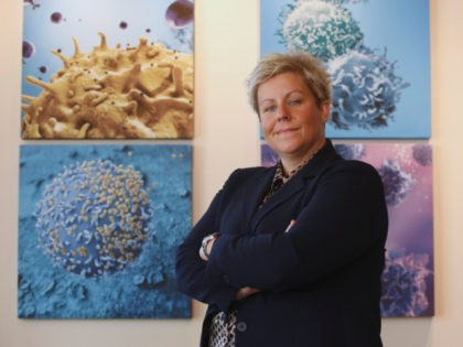 n this photo taken Tuesday, Sept. 8, 2015, Cate Dyer, chief executive officer and founder of StemExpress, poses at the company's office in Placerville, Calif. StemExpress is a broker in human tissue, which includes the fetal tissue that is at the heart of the Planned Parenthood video controversy.(AP Photo/Rich Pedroncelli)