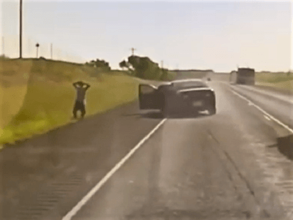 Exclusive Video: Police Spike Tires of Human Smuggler's Vehicle During Pursuit