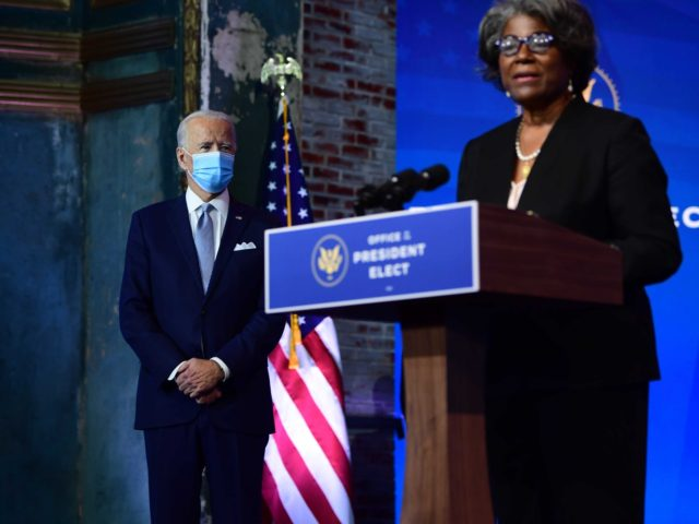 Joe Biden Linda Thomas-Greenfield (Mark Makela / Getty)