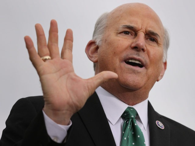Rep. Louie Gohmert (R-TX) speaks during a news conference with members of the House Freedom Caucus about immigration on the U.S.-Mexico border outside the U.S. Capitol on March 17, 2021 in Washington, DC. Accusing the Biden Administration of partnering with with drug cartels, members of the conservative caucus listed numerous …