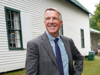 Vermont Governor Phil Scott on September 14, 2018 at the Tunbridge World's Fair in Tunbridge, Vermont. (DON EMMERT/AFP via Getty Images)