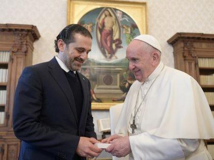 Pope Francis and Saad Hariri