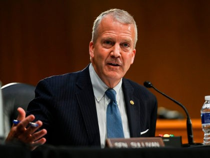 WASHINGTON, DC - FEBRUARY 03: U.S. Senator Dan Sullivan (R-AK) speaks at the confirmation hearing for Administrator of the Environmental Protection Agency nominee Michael Regan before the Senate Environment and Public Works committee on February 3, 2021 in Washington, DC. Regan previously served as the Secretary of the North Carolina …