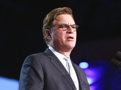 PALM SPRINGS, CA - JANUARY 02: Aaron Sorkin speaks onstage at the 29th Annual Palm Springs International Film Festival Awards Gala at Palm Springs Convention Center on January 2, 2018 in Palm Springs, California. (Photo by Rich Fury/Getty Images for Palm Springs International Film Festival )