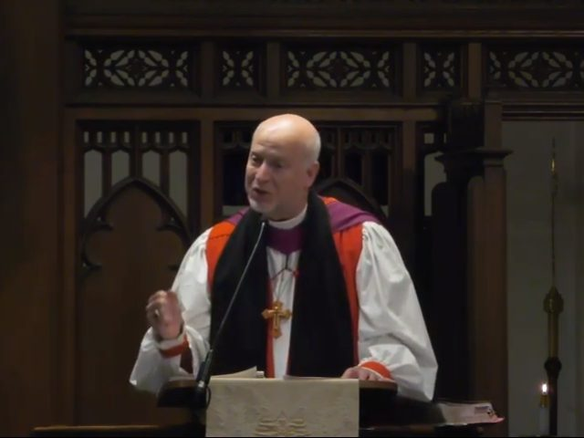 An Episcopal bishop who was punished by church leadership for refusing to allow same-sex marriages in his diocese said he is leaving the mainline Protestant church on Good Friday and seeking to be received into the Anglican Church in North America.