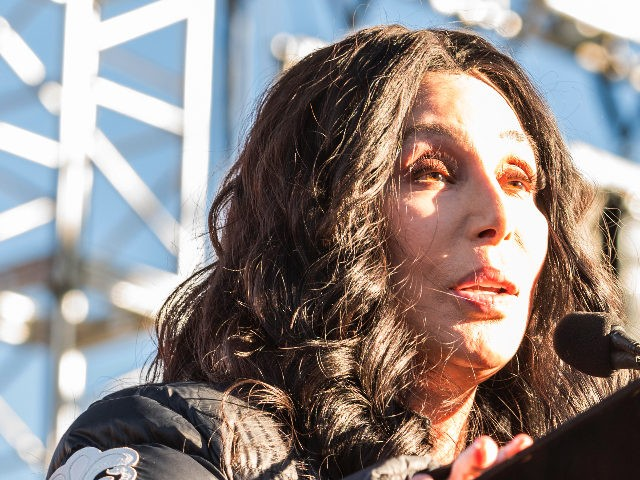 "LAS VEGAS, NV - JANUARY 21: Cher at the Women's March ""Power to the Polls"" rally in LAs Vegas, Nevada on January 21, 2018. Credit: Damairs Carter/MediaPunch/IPX"