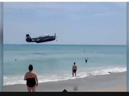 WATCH: WWII-Era Bomber Plane Crash Lands in Ocean Near Florida Beach