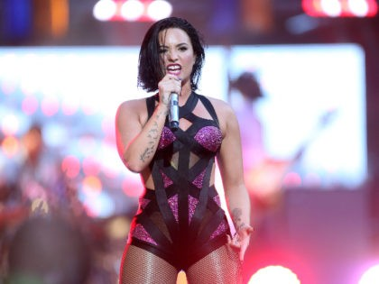 LOS ANGELES, CA - AUGUST 30: Recording artist Demi Lovato performs on the Pepsi Stage, during the 2015 MTV Video Music Awards, at The Orpheum Theatre on August 30, 2015 in Los Angeles, California. (Photo by Frederick M. Brown/Getty Images for MTV)