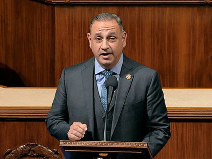 FILE - In this Dec. 18, 2019, file photo, Rep. Gil Cisneros, D-Calif., speaks as the House of Representatives debate the articles of impeachment against President Donald Trump at the Capitol in Washington. Cisneros is facing a challenge from Young Kim for California's 39th Congressional District. California's tarnished Republican Party …
