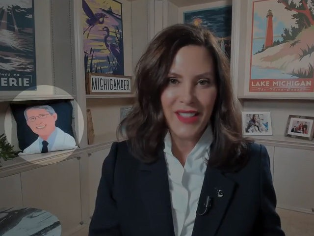 Michigan Governor Gretchen Whitmer criticized Republican election reform efforts in a video interview with a special cameo.