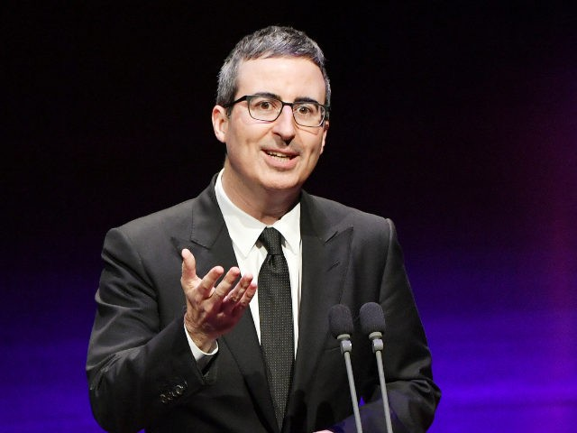 NEW YORK, NY - MAY 29: Comedian John Oliver speaks onstage during Lincoln Center's American Songbook Gala at Alice Tully Hall on May 29, 2018 in New York City. (Photo by Mike Coppola/Getty Images for Lincoln Center)