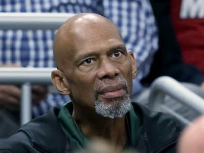 MILWAUKEE, WISCONSIN - OCTOBER 26: NBA Hall of Famer Kareem Abdul-Jabbar looks on during the game between the Miami Heat and Milwaukee Bucks at the Fiserv Forum on October 26, 2019 in Milwaukee, Wisconsin. NOTE TO USER: User expressly acknowledges and agrees that, by downloading and/or using this photograph, user …