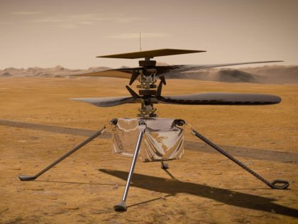 NASA Success: Milestone Flight of First Aircraft over Another Planet as Helicopter Hovers Above Mars