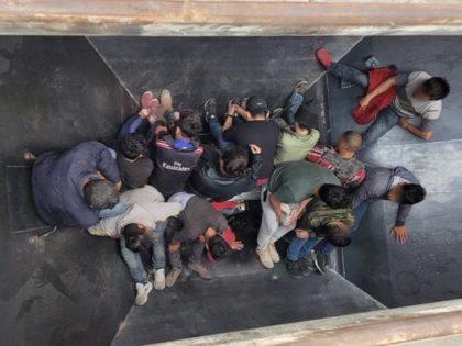 Uvalde Station Border Patrol agents find 25 migrants packed into three grain-hopper railcars near Uvalde, Texas. (Photo: U.S. Border Patrol/Del Rio Sector)