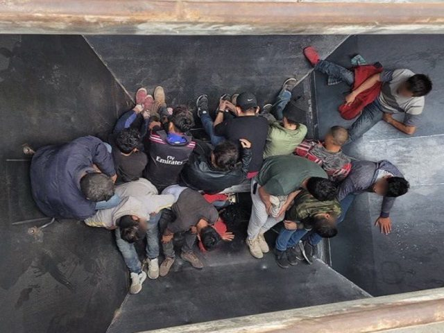 Uvalde Station Border Patrol agents find 25 migrants packed into three grain-hopper railcars near Uvalde, Texas. (Photo: U.S. Border Patrol/Del Rio Sector)