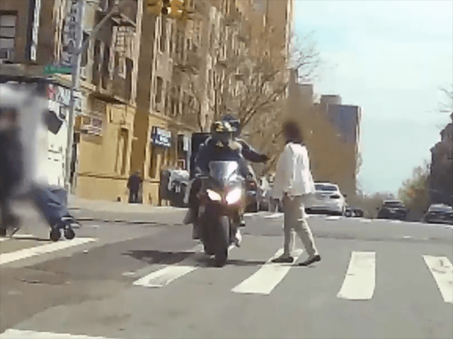 VIDEO: Men on Motorcycle Allegedly Snatch Woman's Necklace in NYC