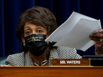 WASHINGTON, DC - OCTOBER 02: Rep. Maxine Waters (D-CA) speaks as Secretary of Health and Human Services Alex Azar testifies before the House Select Subcommittee on the Coronavirus Crisis, on Capitol Hill on October 2, 2020 in Washington, DC. (Photo by J. Scott Applewhite-Pool/Getty Images)