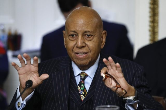 In this Dec. 17, 2019 file photo, Rep. Alcee Hastings, D-Fla., speaks during a House Rules Committee hearing on the impeachment against President Donald Trump on Capitol Hill in Washington. Hastings, the longtime Congressman from Florida has died after a two-year fight with pancreatic cancer. The Palm Beach County Democrat …