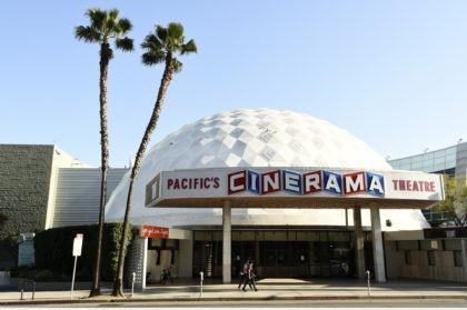 The Cinerama Dome is pictured, Tuesday, April 28, 2020, in Los Angeles. Hollywood's theatrical business may be slowly rebounding but for some exhibitors the last year has been catastrophic. Pacific Theaters, which operates some 300 screens in California, including the beloved ArcLight theaters and the historic Cinerama Dome in Hollywood, …