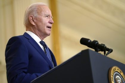 President Joe Biden speaks about Russia in the East Room of the White House, Thursday, April 15, 2021, in Washington. (AP Photo/Andrew Harnik)