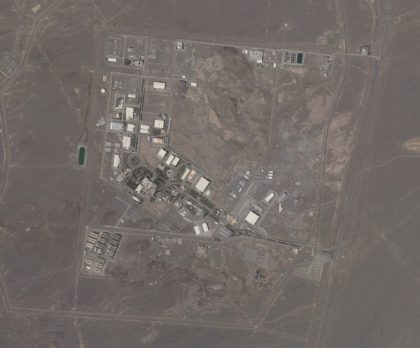 This satellite photo provided from Planet Labs Inc. shows Iran's Natanz nuclear facility on Wednesday, April 14, 2021. Iran began enriching uranium Friday, April 16, 2021, to its highest level ever at Natanz, edging closer to weapons-grade levels to pressure talks in Vienna aimed at restoring its nuclear deal with …