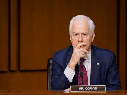 Sen. John Cornyn, R-Texas, attends a Senate Judiciary Committee meeting on Capitol Hill in Washington, Monday, March 1, 2021. The Senate Judiciary Committee voted Monday to advance the nomination of Merrick Garland, President Joe Biden's nominee for attorney general. (AP Photo/Susan Walsh)
