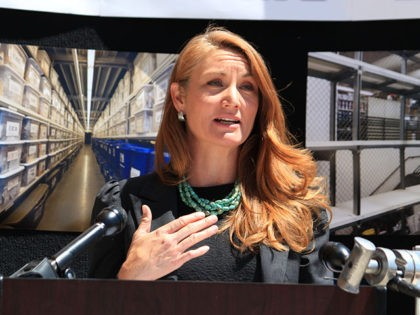 This April 30, 2021 image shows state Rep. Melanie Stansbury at a news conference about erasing a backlog in untested rape evidence kits in Albuquerque, New Mexico. Stansbury, a Democrat, is among the candidates vying for an open congressional seat in New Mexico. (AP Photo/Susan Montoya Bryan)