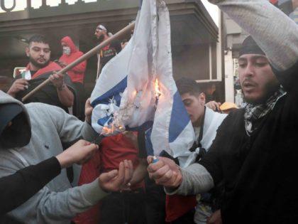 Anti-Israel protest in Manhattan (Spencer Platt / Getty)