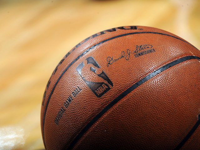 SAN ANTONIO - APRIL 28: A NBA basketball on the court during play between the Dallas Mavericks and the San Antonio Spurs in Game Five of the Western Conference Quarterfinals during the 2009 NBA Playoffs at AT&T Center on April 28, 2009 in San Antonio, Texas. NOTE TO USER: User …