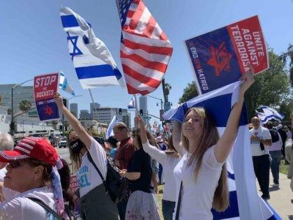 Beautiful people at pro-Israel rally (Joel Pollak)