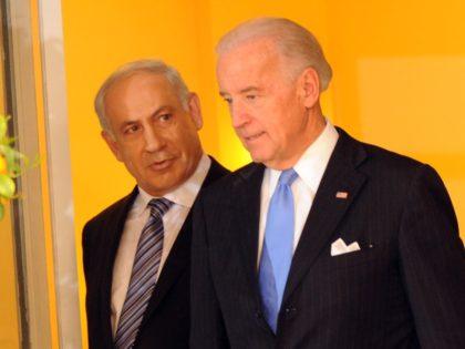 Benjamin Netanyahu and Joe Biden (Debbi Hill - Pool / Getty)