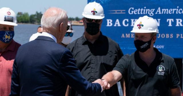 Joe Biden Wears Mask Outside Again in Louisiana Despite Updated CDC Guidelines