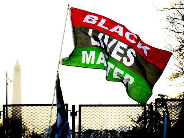 Black Lives Matter flag (Victoria Pickering / Flickr / CC / Cropped)
