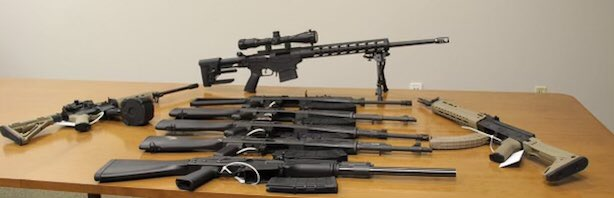 CBP Officers in Del Rio, Texas, seized eight rifles and magazines during an exit inspection. (Photo: U.S. Customs and Border Protection)
