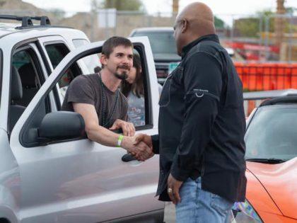 Veteran getting his car keys.