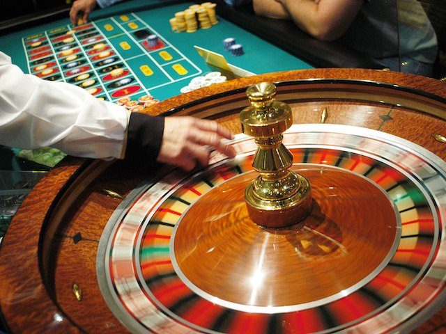 The roulette wheel spins at Caesars Atlantic City July 8, 2006 in Atlantic City, New Jersey. Caesars, along with Atlantic City's 11 other casinos reopend this morning after they were forced to close their gambling floors for the first time in their 28-year history due to the New Jersey state …