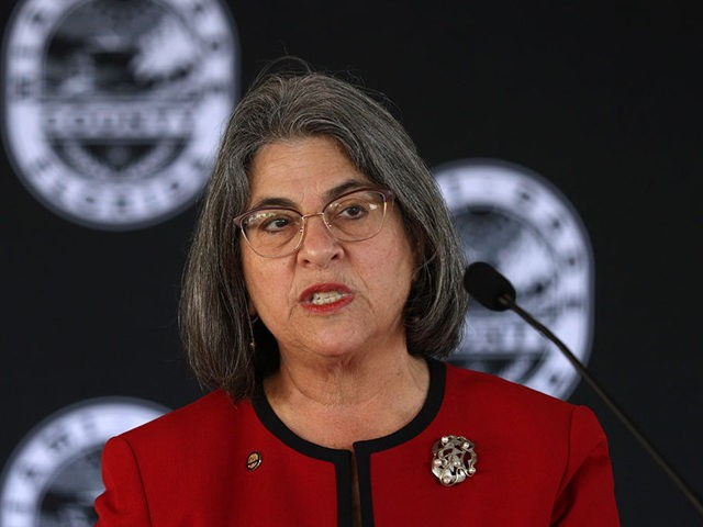 MIAMI, FLORIDA - FEBRUARY 08: Miami-Dade Mayor Daniella Levine Cava speaks during a press conference held at the Stephen P. Clark Center to announce new relief for landlords and tenants impacted by the COVID-19 pandemic on February 08, 2021 in Miami, Florida. The Mayor and County leaders discussed the timeline …