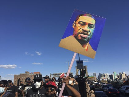One year anniversary of the death of George Floyd. STAR MAX Photo: 6/13/20 Protesters march across the Brooklyn Bridge and down Broadway to bring attention to the wrongful death of George Floyd at the hands of Minneapolis Police Officers. A large contingent of Asian Protesters got behind the cause as …