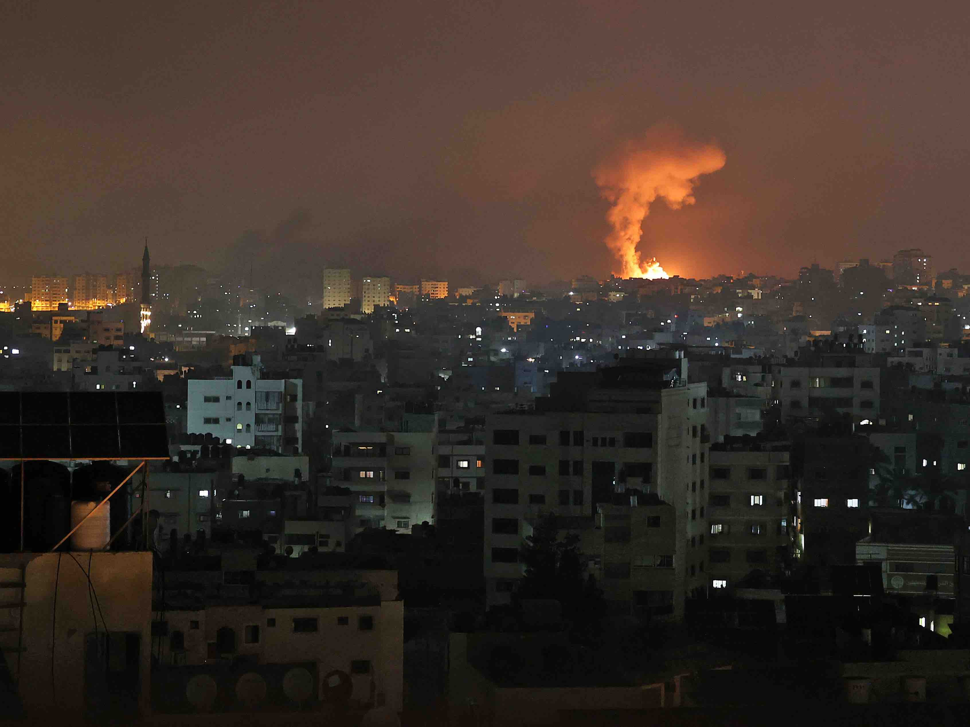 Gaza explosion III (Mohammed Abed / AFP / Getty)