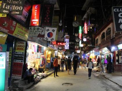 Translation: The crowd around Thamel at night, the backpacker haven in Kathmandu. Taken in Nepal, September 2018.