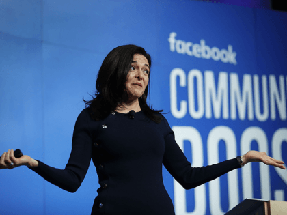 Facebook Chief Operating Officer Sheryl Sandberg speaks during a Facebook Community Boost event at the Knight Center on December 18, 2018 in Miami, Florida. The Community Boost event is the last of a 50 city tour across the U.S. and is put on by the social media company to give …