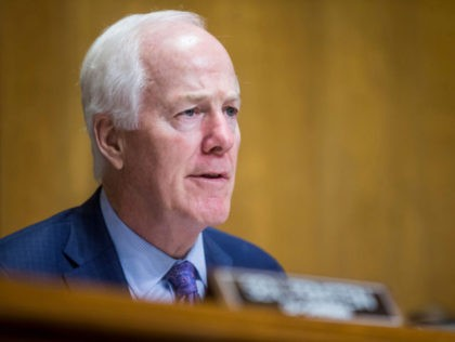 WASHINGTON, DC - JUNE 11: Senate Caucus on International Narcotics Control Chairman Sen. John Cornyn (R-TX) questions U.S. Secretary of State Mike Pompeo during a Senate Caucus on International Narcotics Control hearing on June 11, 2019 in Washington, DC. The hearing examined the federal government's role in combating transnational criminal …
