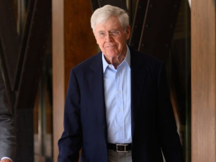 COLORADO SPRINGS, COLORADO - JUNE 29: CEO and Chairman of Stand Together Brian Hooks and Founder of Stand Together Charles Koch at the Stand Together Summit on June 29, 2019 in Colorado Springs, Colorado. (Photo by Daniel Boczarski/Getty Images for Stand Together)