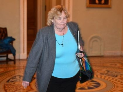 House impeachment manager Rep. Zoe Lofgren (D-CA) departs after the conclusion of the second day in the Senate impeachment trial of US President Donald Trump at the US Capitol on January 23, 2020 in Washington, DC. - Democrats accused us President Donald Trump at his historic Senate impeachment trial of …