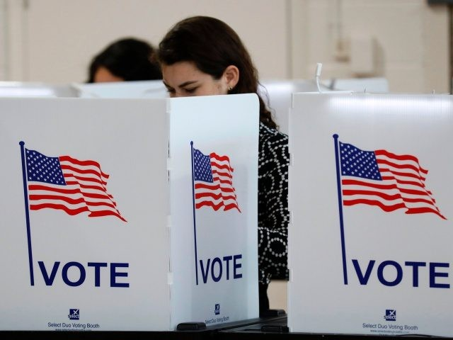 People vote in the Michigan primary election at Chrysler Elementary School in Detroit, Michigan, on March 10, 2020. - Voters in Michigan and five other states headed to polls early Tuesday in the latest slate of primaries that will decide whether Joe Biden or Bernie Sanders will face President Donald …