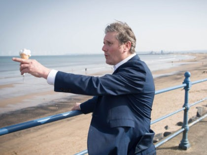 SEATON CAREW, UNITED KINGDOM - MARCH 30: Labour Party leader Sir Keir Starmer meets local people in Seaton Carew in County Durham, during a day of campaigning for the Hartlepool by-election with the party's candidate, Dr Paul Williams, on March 30, 2021 in Seaton Carew, England. (Photo by Stefan Rousseau-WPA …