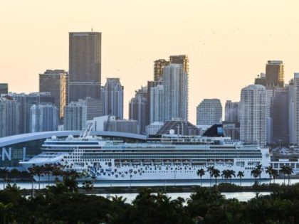 A docked Norwegian Gem cruise ship is seen at the Port of Miami in Miami Beach, Florida on April 14, 2021. - After more than a year of frustration, diehard fans of cruise vacations at last sense an end to their Covid-imposed stranding, and many are booking trips as soon …