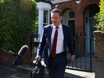 Britain's Labour Party leader Keir Starmer leaves his home in London on May 7, 2021. - Early results from nationwide local elections on May 7 showed that the ruling Conservative Party had won a landslide in the opposition stronghold of Hartlepool in northeast England, a bitter blow to the Labour …